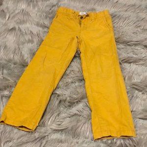 Old Navy mustard slacks 5T